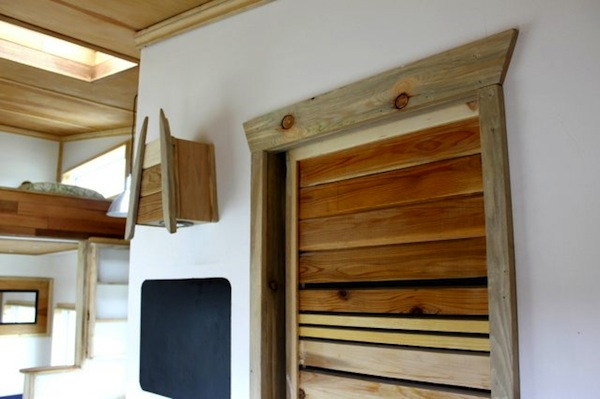 Beautiful unique trim work in this tiny house