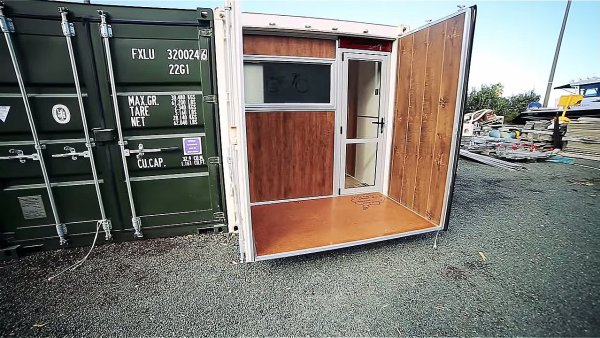 boat builders 20 ft shipping container tiny house 001 via Living Big in a Tiny House 003