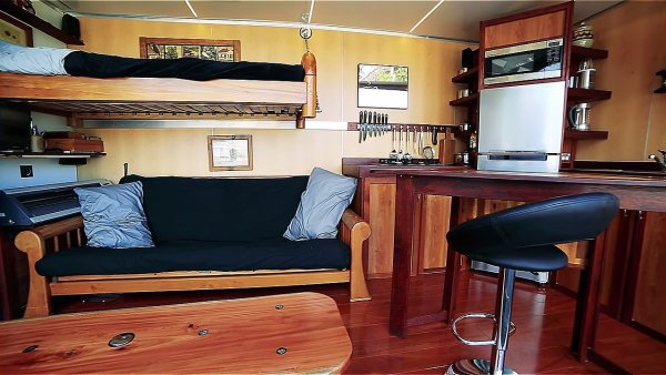 boat builders 20 ft shipping container tiny house 001 via Living Big in a Tiny House 005