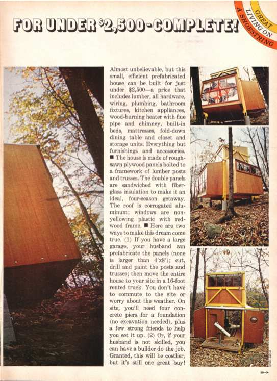 The Bolt Together House on Family Circle Magazine, 1973