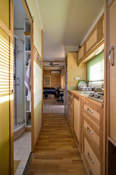 Box Truck Converted into Amazing DIY Solar Mobile Cabin