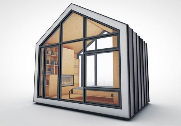 prefab and modern bunkie tiny house concept. Black Bedroom Furniture Sets. Home Design Ideas