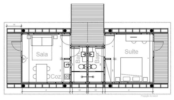 casa em guararema floor plan