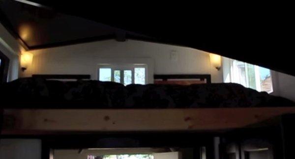 California King Sleeping Loft in Tiny Home