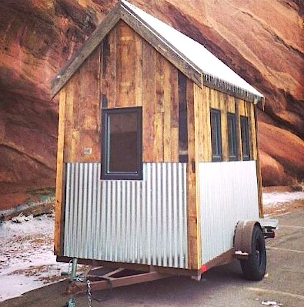 mobile kitchen trailer sink amazon & off grid 74 sq. ft. tiny house for sale