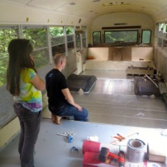 Cost Of New Kitchen Sink Sprayer Parts Family 6 Living Simply Tiny In Converted School Bus