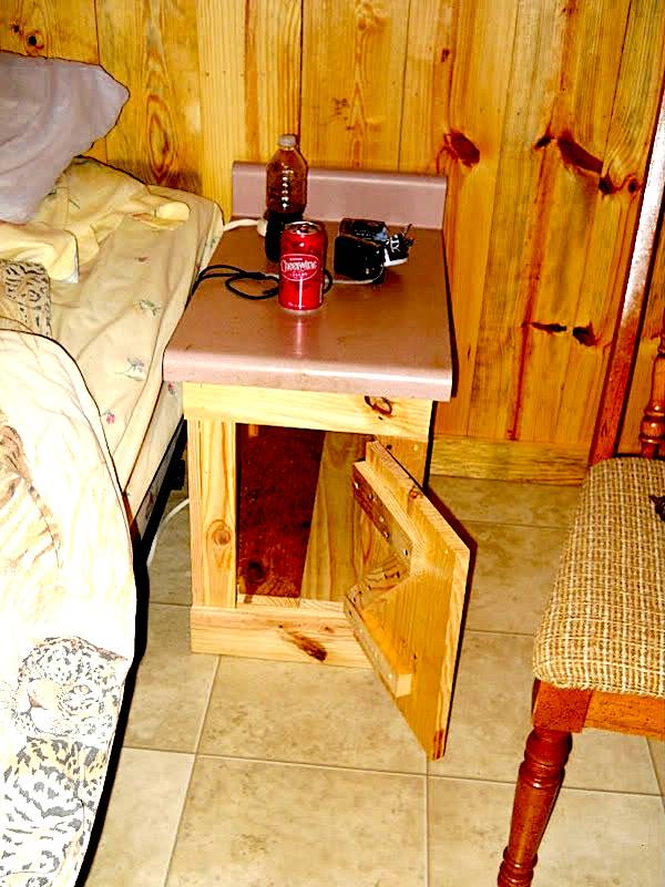 Custom Built Nightstand Using Recycled Kitchen Countertop