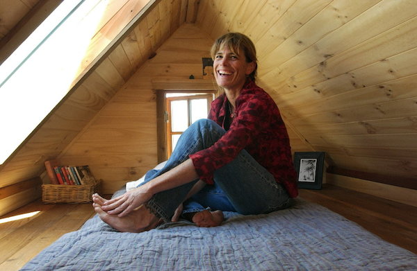 Dee Williams in her Tiny House Loft