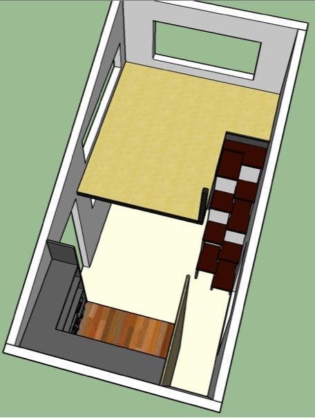 denises 812 tiny house design - 8x12 Tiny House On Wheels Plans