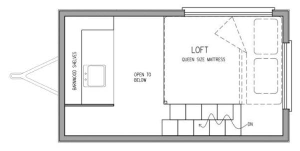 denise eissler 8x12 tiny house design 008 - 8x12 Tiny House On Wheels Plans