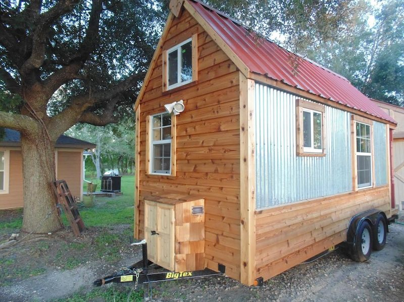 195 sq ft tiny home on wheels for sale. Black Bedroom Furniture Sets. Home Design Ideas
