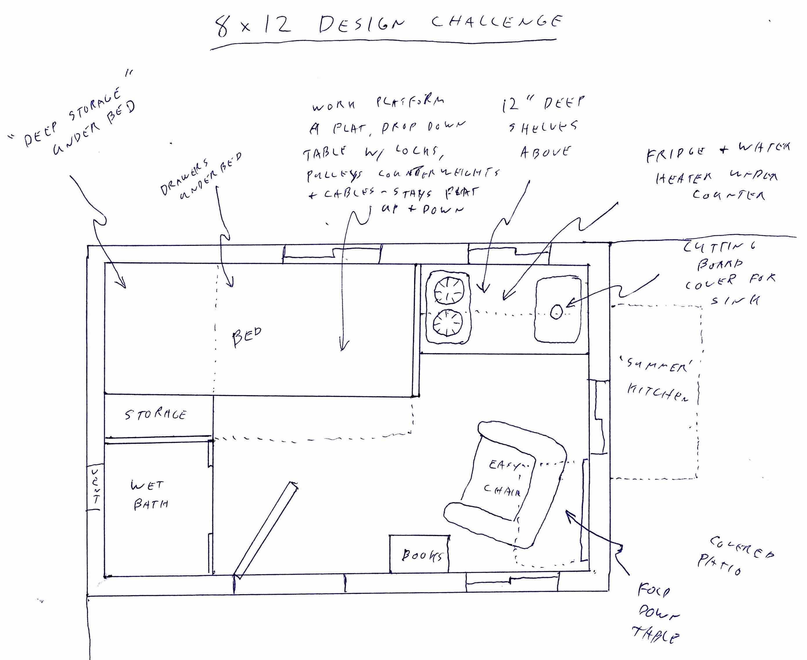 Dennis Main's 8x12 Tiny House Design