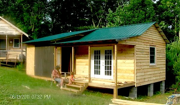 Deputy Gene's Small Cabin Coming Together Locally Milled Pine Siding