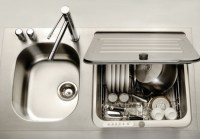 Space Saving Kitchen Ideas: Combo Sink And Dishwasher