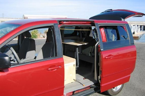 dodge grand caravan minivan camper. Black Bedroom Furniture Sets. Home Design Ideas
