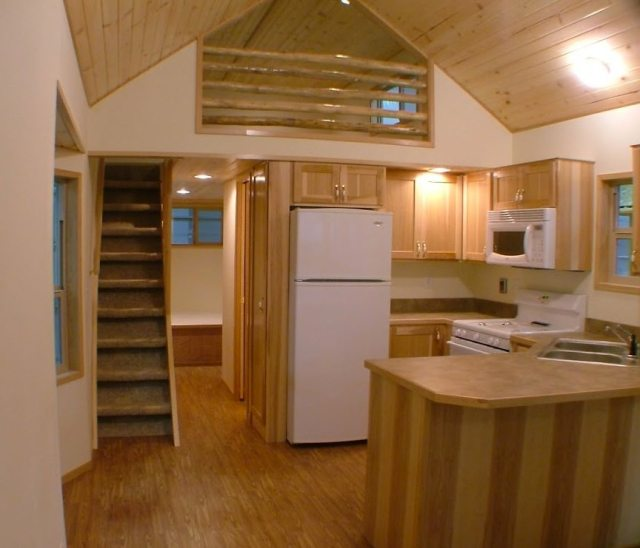 dodge spacious park model tiny cabin on wheels by rpc 001