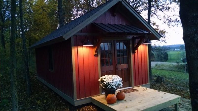 Beautiful 12 X 24 Tiny Cabin For Sale