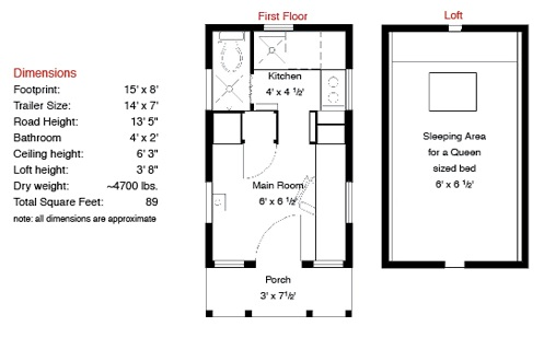 The epu tiny house from tumbleweed and jay shafer for Tumbleweed floor plans