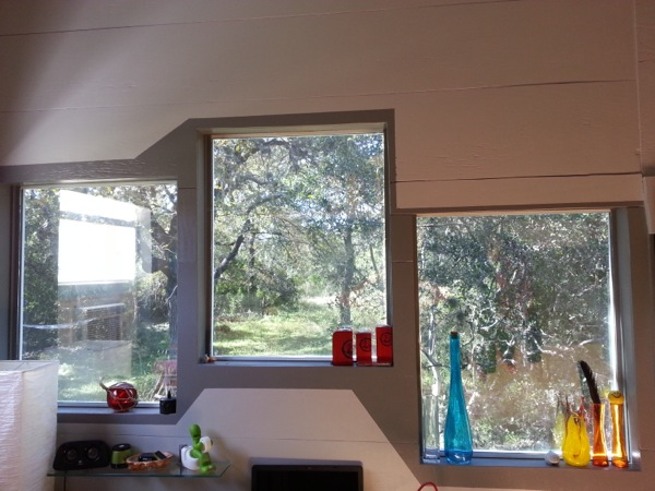 Windows in Ethan's Tiny Home