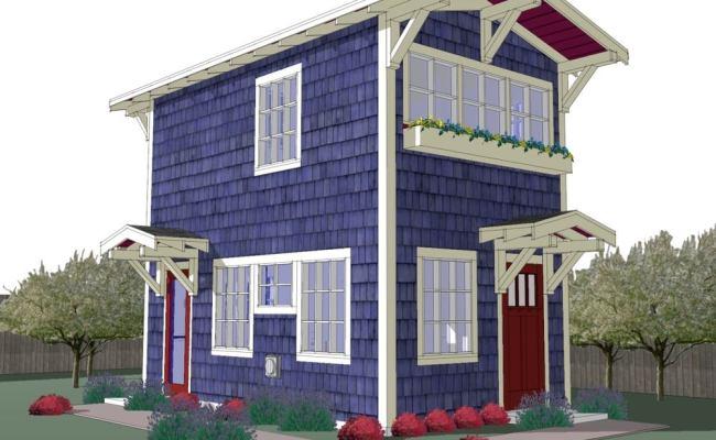 440 Sq Ft Tiny Backyard Cottage Plans