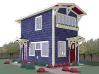 440 Sq. Ft. Tiny Backyard Cottage Plans