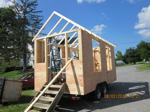 Framing and Sheathing on Tiny House on a Trailer