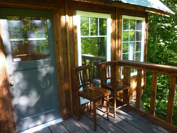 Front Porch of Tiny Cabin