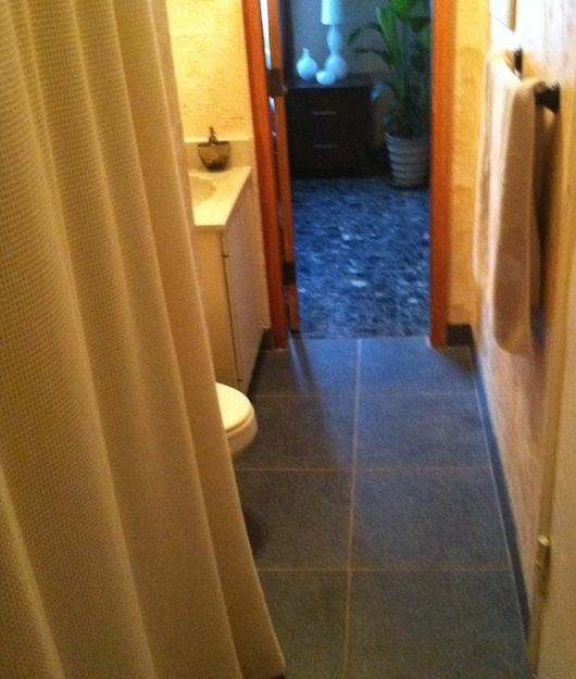 Bathroom and walkway