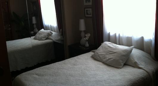 Bedroom in garage converted in law suite