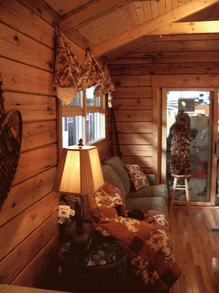 Do It Yourself Home Design: 400 Sq. Ft. Oak Log Cabin On Wheels