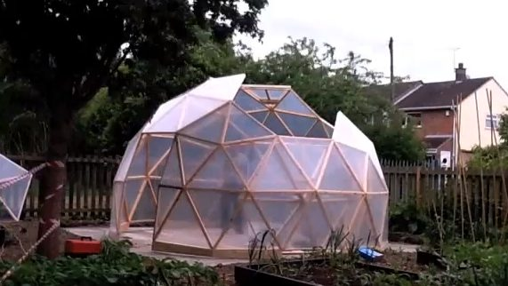 Geodesic Dome Construction and Time-lapse Video