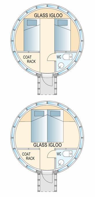 Glass Igloo Tiny House Floor Plan