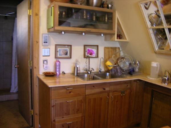 Green A-frame Tiny House (3)