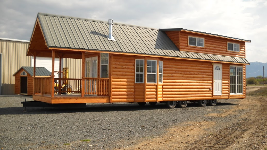 Gromer park model tiny home on a trailer - The mobile little house the shortest way to freedom ...