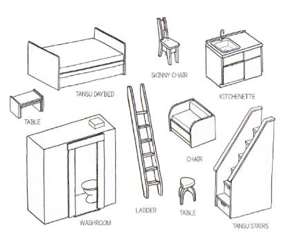 Jay Shafer's Component Furniture for Designing your own