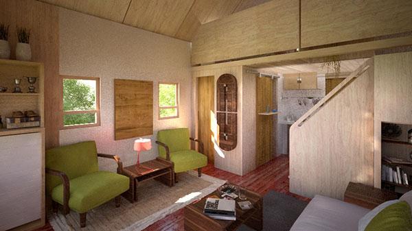Jay Shafers 312 Sq Ft Tiny UHouse Cabin