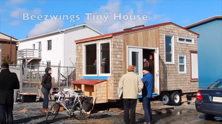 Jessie 39 s 8x20 tiny house on wheels in nova scotia for Small house designs nova scotia