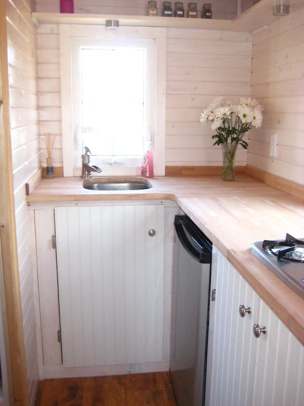 Kitchen Close Up of Beautiful Fencl Tiny House