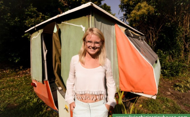 Woman Escapes High Rent With 1000 Tiny Pop Up Camper