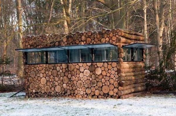 Hans Liberg's Secluded Music Studio Log Cabin
