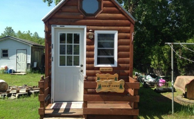 Log Siding Tiny House On Wheels For Sale In New York