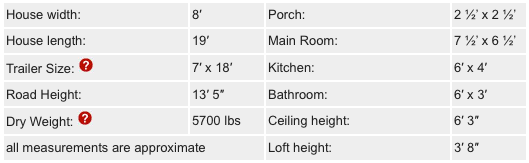 Fencl Tiny House Dimensions