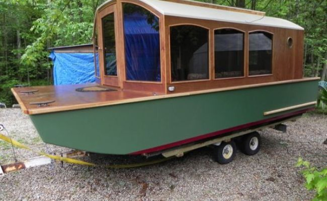 Man Designs Micro Houseboat You Can Build For Cheap