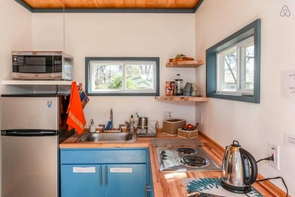 Kitchen in Kanga Cabin