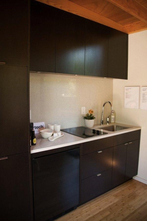Kitchenette in Tiny Modern Studio Cabana