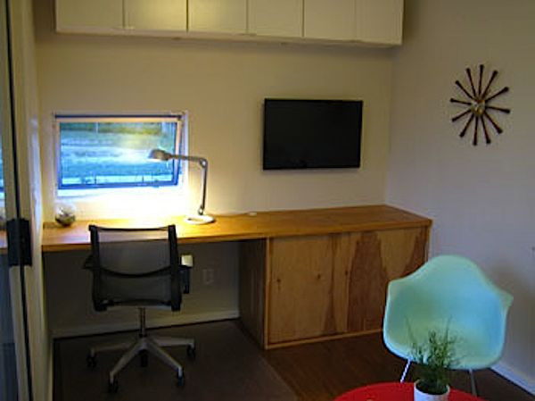 Interior of Modern Prefab Backyard Micro Studio by ClearSpace Homes