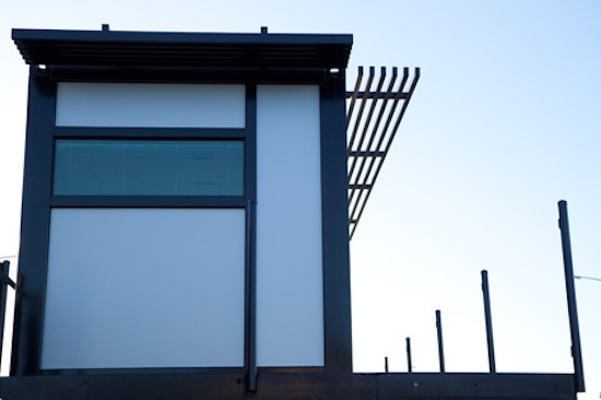 Sideview of the prefab shipping container house by One Cool Habitat
