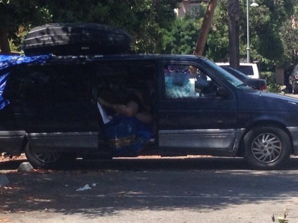 neighboring van dweller