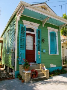 Another very colorful New Orleans shotgun house.