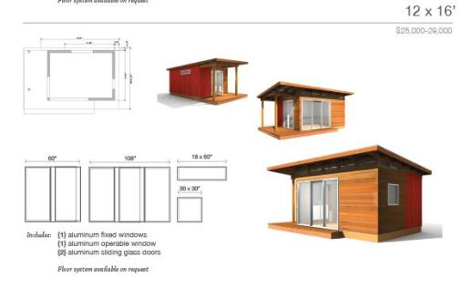 Small house kits by modern shed for Guest cabin kits